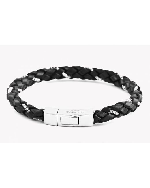 Tateossian | Black Click Scoubidou Weave Bracelet for Men | Lyst