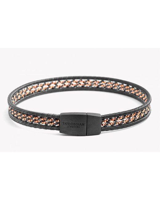 Tateossian   Metallic Capri Silver Bracelet for Men   Lyst