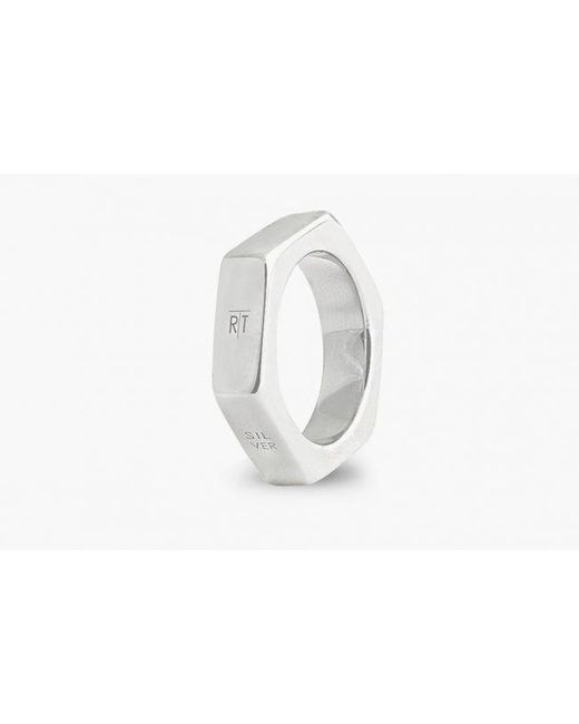 Tateossian | Metallic Nut & Bolt Silver Ring for Men | Lyst