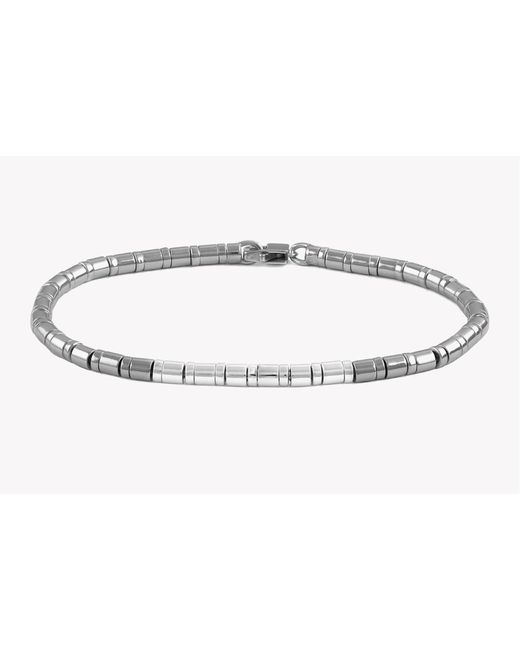 Tateossian - Gray Pure Bamboo Silver Bracelet for Men - Lyst