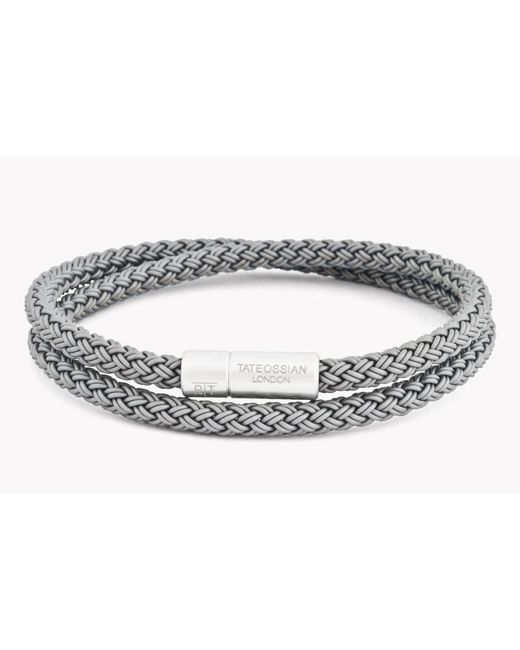 Tateossian | Gray Rt Rubber Cable Bracelet for Men | Lyst