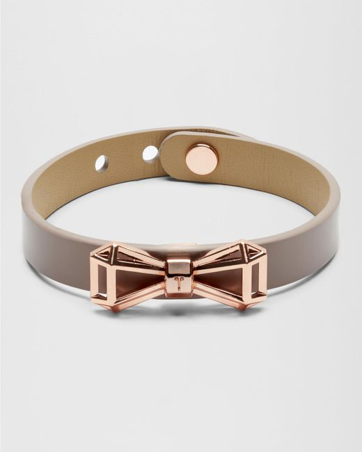Ted Baker   Blue Geometric Bow Leather Bracelet for Men   Lyst