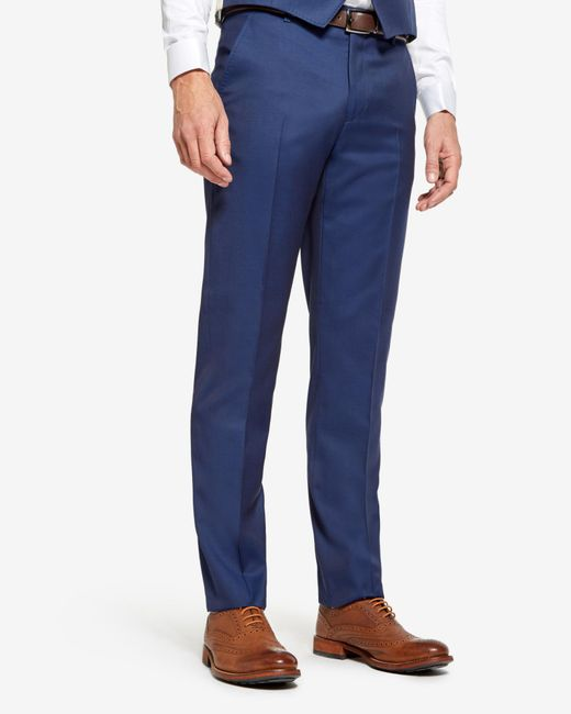 Ted Baker | Blue Wool Trousers for Men | Lyst