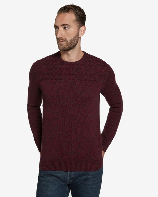 Ted Baker | Red Cable Knit Jumper for Men | Lyst