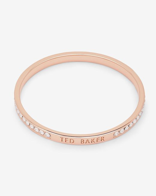 Ted Baker | Metallic Crystal Bangle | Lyst