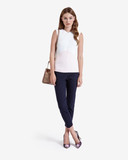Ted Baker | Natural Colour Block Top | Lyst