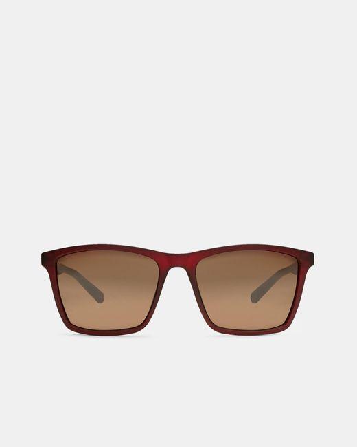 Ted Baker | Red Rectangular Sunglasses | Lyst