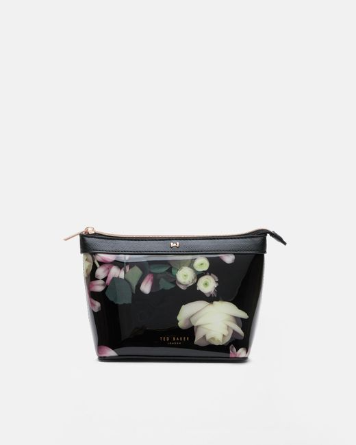 Ted Baker | Black Kensington Floral Patent Cosmetic Bag | Lyst