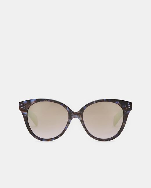 Ted Baker | Purple Marble Oversized Oval Sunglasses | Lyst