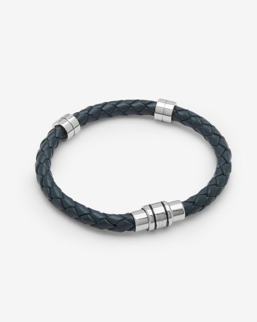 Ted Baker | Blue Metal And Leather Bracelet for Men | Lyst