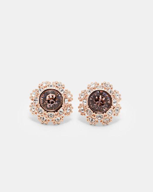 Ted Baker   Pink Tbj1584 Daisy Lace Stud Earrng   Lyst