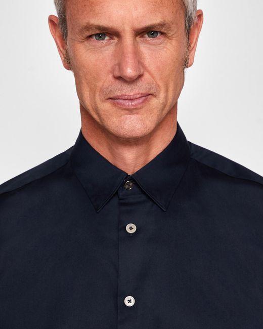 Ted Baker - Blue Stretch Satin Shirt for Men - Lyst