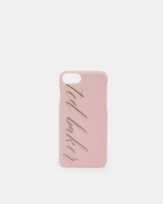 Ted Baker - Pink Logo Iphone 6/6s/7/8 Clip Case - Lyst