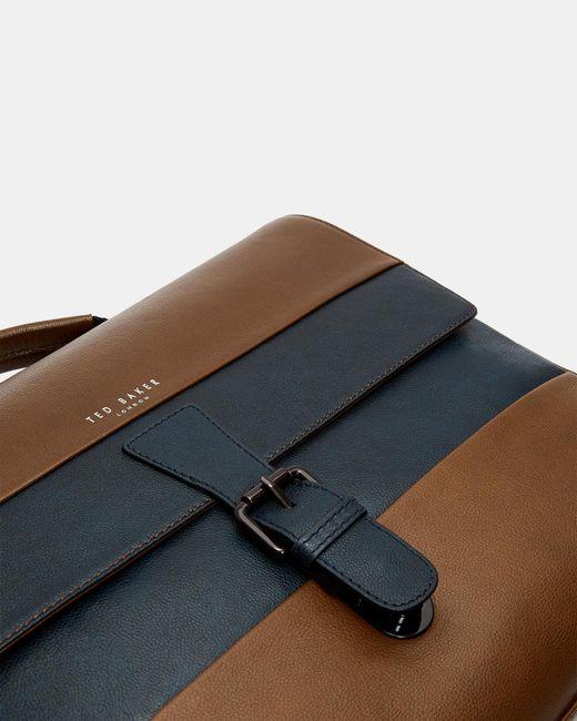 cc3c59f63 ... Ted Baker - Multicolor Striped Leather Messenger Bag for Men - Lyst ...