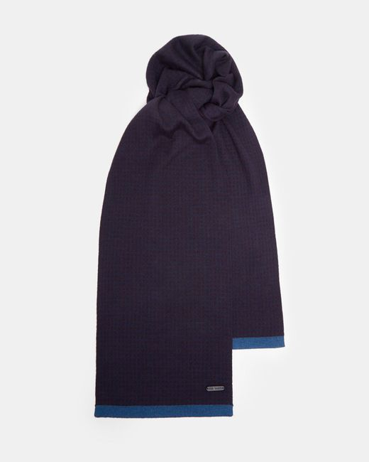 Ted Baker - Blue Geo Jacquard Scarf for Men - Lyst