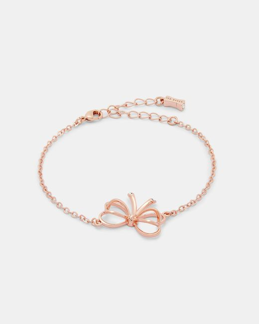 Ted Baker - Multicolor Small Heart Bow Bracelet - Lyst