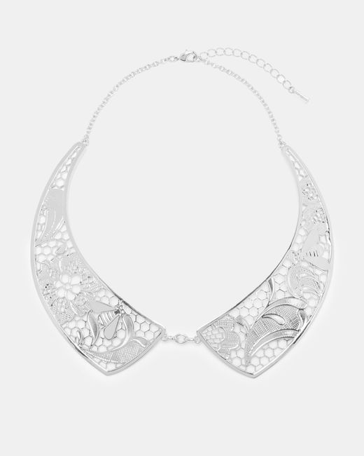 Ted Baker - Metallic Lace Collar Necklace - Lyst