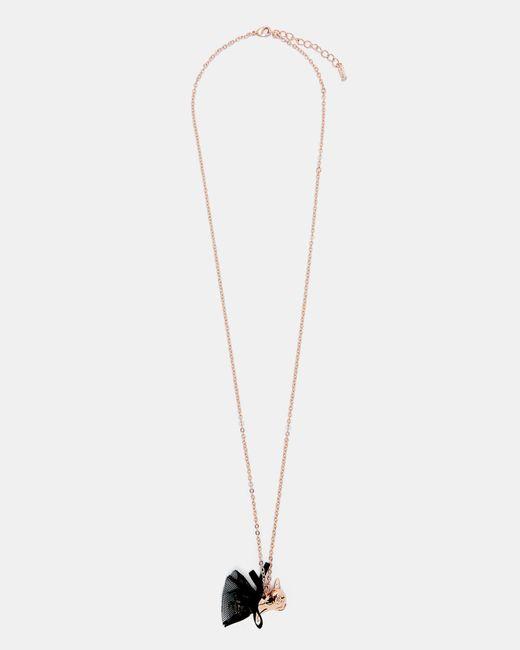 Ted Baker - Black Bulldog Ballerina Pendant Necklace - Lyst