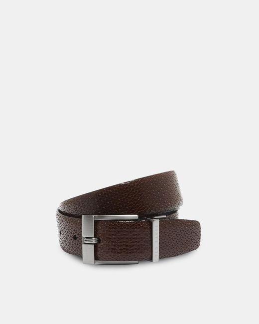 Ted Baker - Brown Reversible Buckle Leather Belt for Men - Lyst