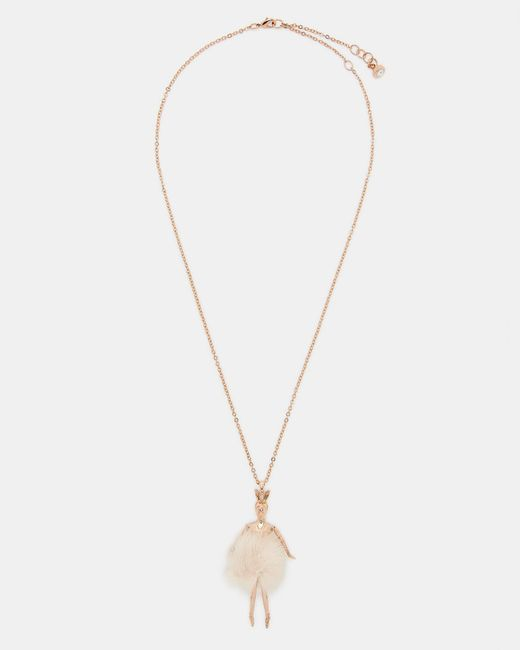 Ted Baker - Multicolor Bunny Tail Ballerina Necklace - Lyst