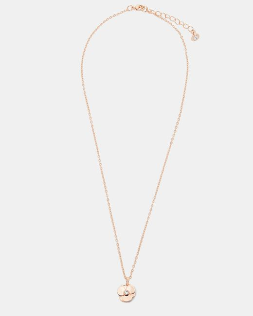 Ted Baker | Metallic Swarovski®crystal Pressed Flower Necklace | Lyst