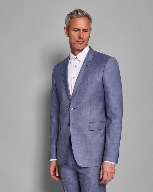 Ted Baker - Blue Debonair Plain Wool Suit Jacket for Men - Lyst