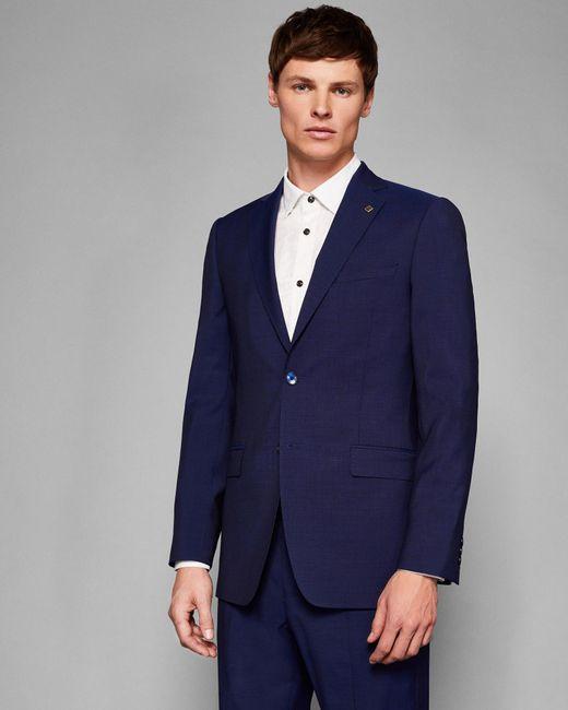 Ted Baker - Blue Debonair Skinny Plain Wool Suit Jacket for Men - Lyst