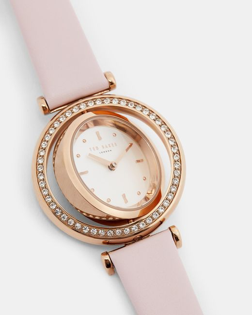 83ff8333f Ted Baker - Pink Rotating Dial Watch - Lyst ...