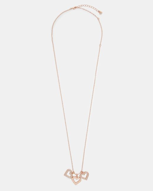 Ted Baker - Multicolor Heart Cluster Pendant Necklace - Lyst