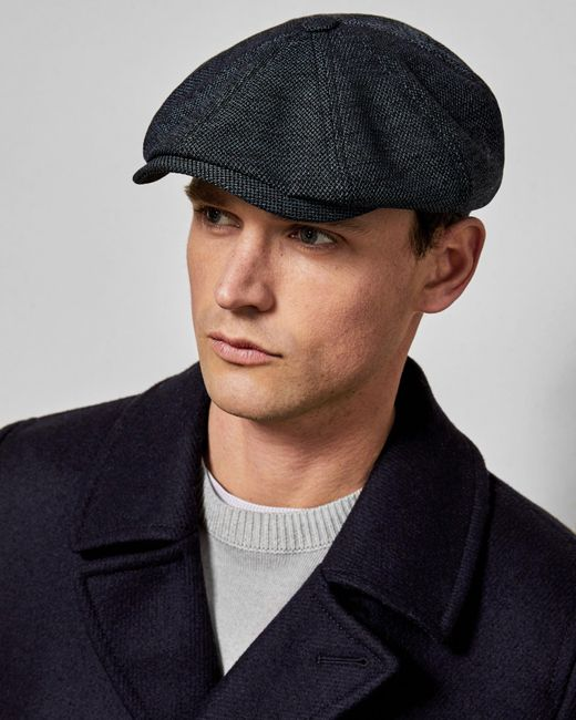 Ted Baker - Blue Textured Baker Boy Hat for Men - Lyst ... bab75d038c7e