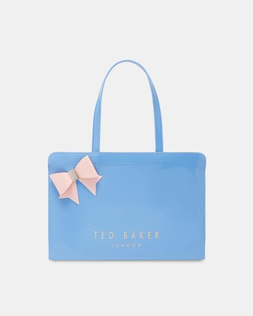 Ted Baker - Blue East West Bow Icon Bag - Lyst