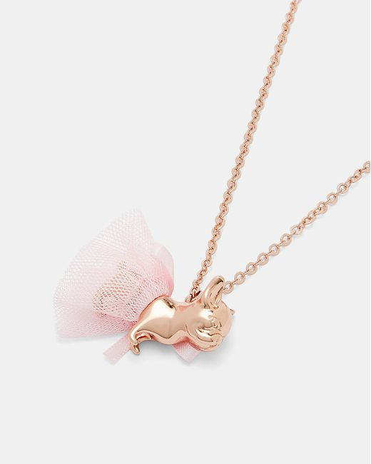 Ted Baker - Pink Bulldog Ballerina Pendant Necklace - Lyst