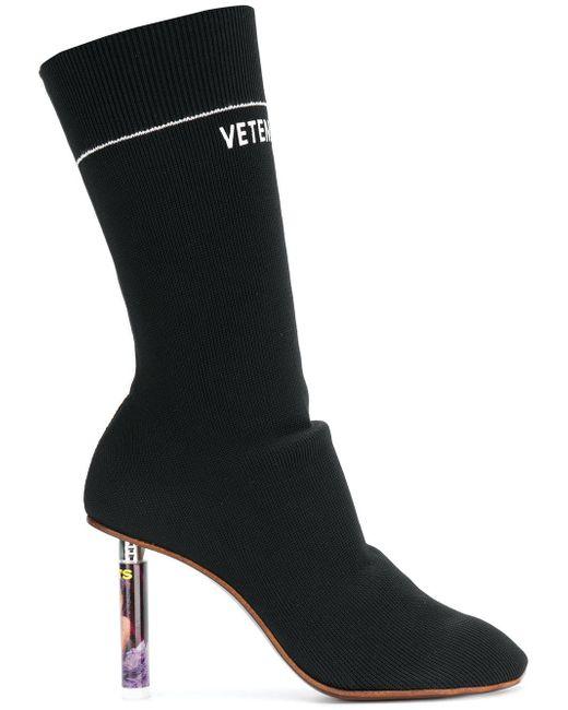 Vetements - Black Lighter Socks Boots - Lyst