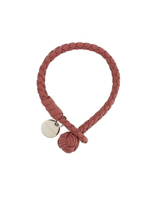 Bottega Veneta   Pink Leather Bracelet   Lyst