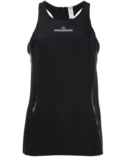 Adidas By Stella McCartney | Black Run Tank Top | Lyst