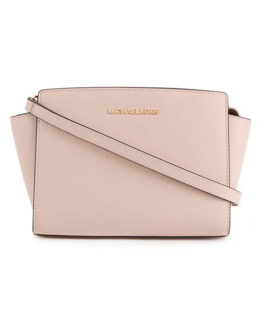 MICHAEL Michael Kors - Pink Selma Leather Messenger Bag - Lyst