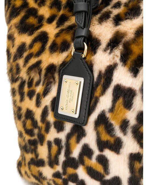 5deb46bd1729 ... Lyst Dolce   Gabbana - Natural Leopard Print Fur Shopping Bag ...