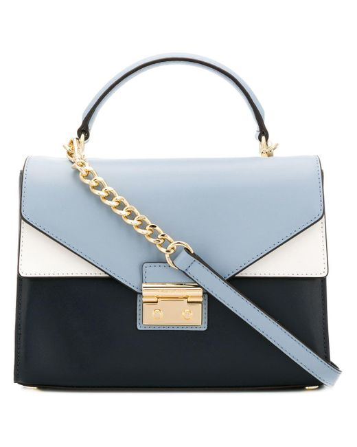 MICHAEL Michael Kors - Blue Sloan Leather Shoulder Bag - Lyst