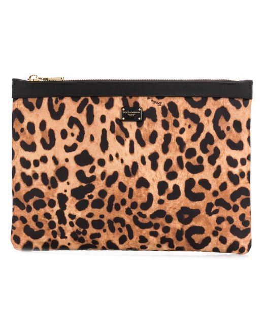 07f8ec5006c3 Dolce & Gabbana - Multicolor Leopard Printed Pouch - Lyst ...