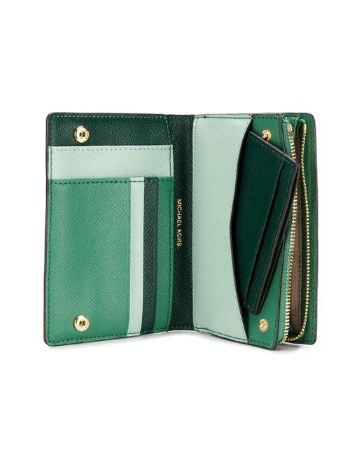 6be214daab15 MICHAEL Michael Kors Jet Set Slim Wallet in Green - Save 1% - Lyst