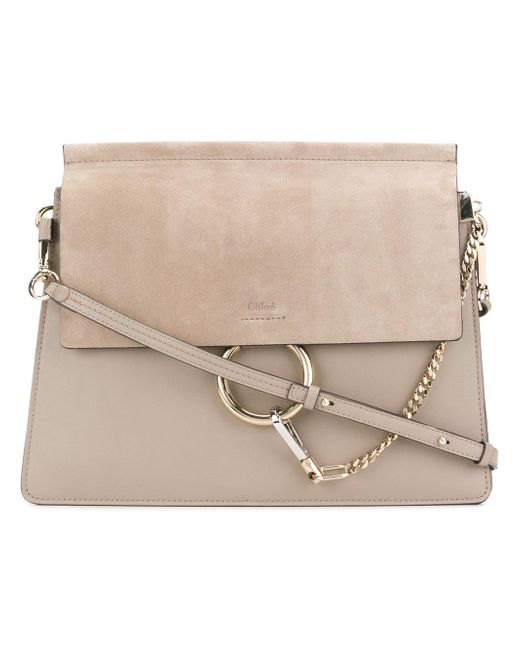 Chloé - Gray Medium Faye Shoulder Bag - Lyst
