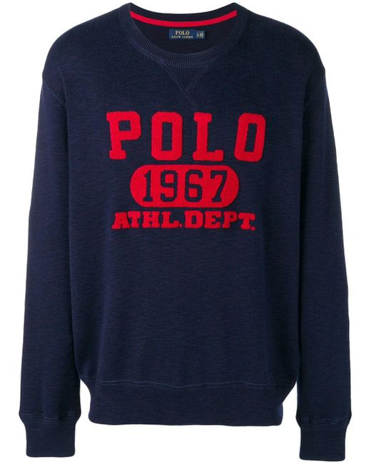 5e07af83982c ... top quality polo ralph lauren blue polo 1967 print sweatshirt for men  lyst 1d01a b4b49