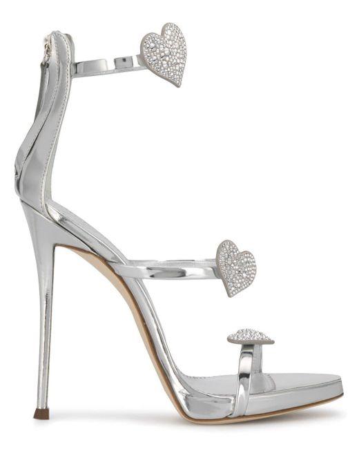 be311098e83 Giuseppe Zanotti - Metallic Love Mania High Heel Sandals - Lyst ...