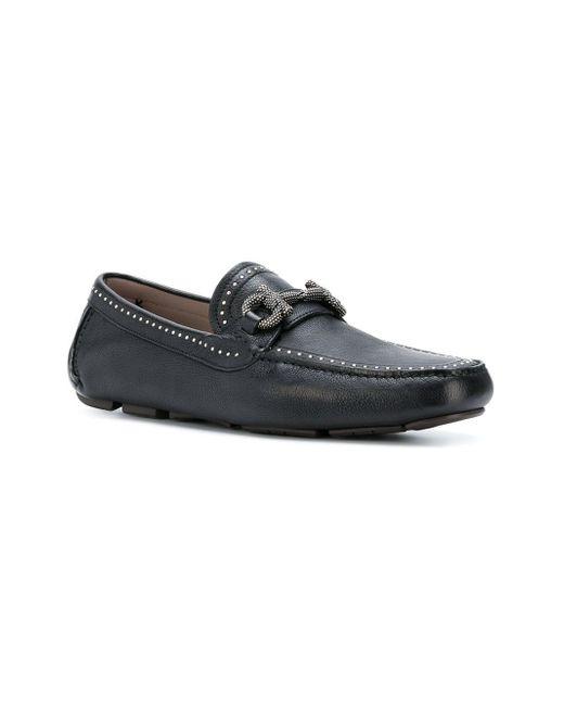 5f0ad709f09 ... Ferragamo - Black Parigi Studs Loafer for Men - Lyst ...