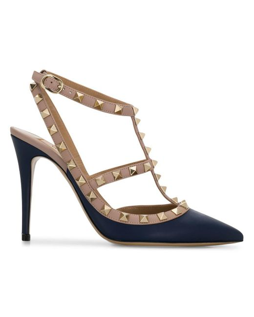 Valentino - Blue Garavani Rockstud Ankle Strap Pumps - Lyst