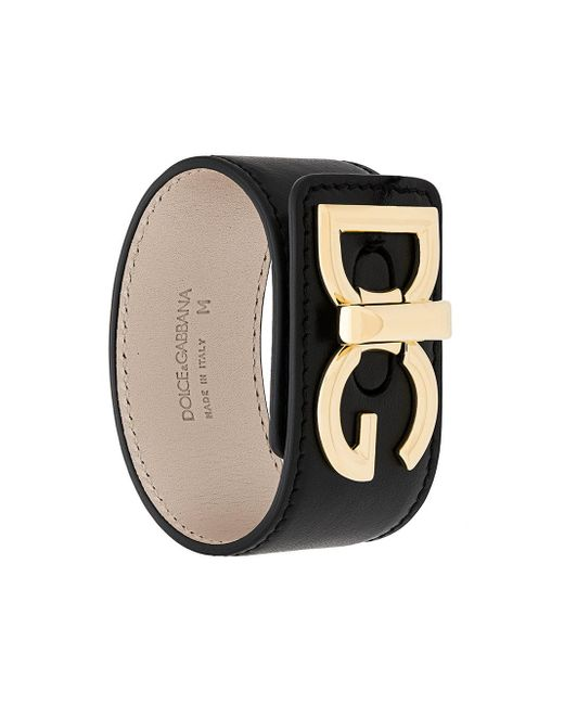 Dolce & Gabbana - Black Bracelet With Logo - Lyst
