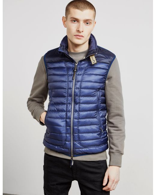 Parajumpers - Mens Lightweight Sully Gilet Blue for Men - Lyst ...