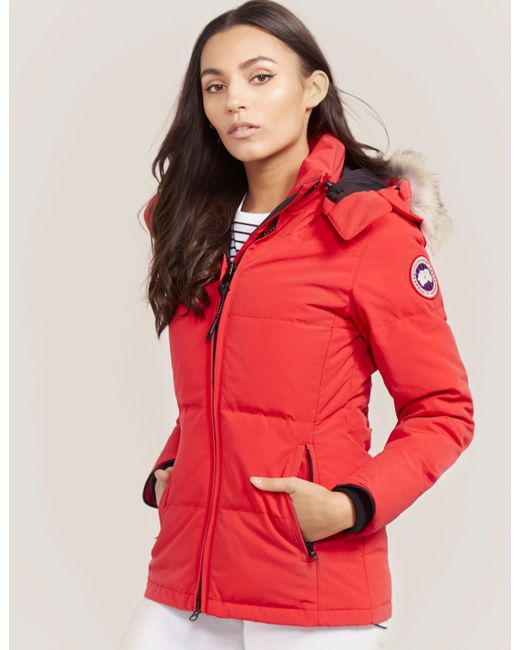 Canada Goose | Red Chelsea Parka Jacket | Lyst