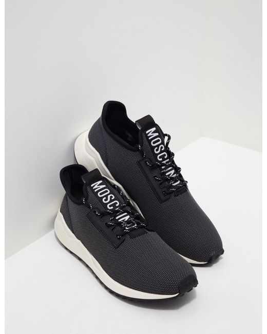fb23a784cd7 Love Moschino - Nylon Sneakers - Online Exclusive Black for Men - Lyst ...