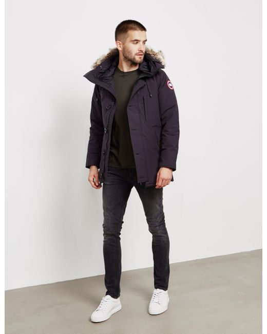 Lyst - Canada Goose Chateau Parka Jacket Navy Blue in Blue for Men ... 45a65a12d72f